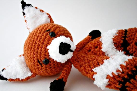 Häkeln Deckchen Fuchs Babydecke häkeln Fox Lovey | Etsy