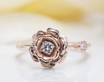c0b6eefa5de6b Rose flower ring | Etsy