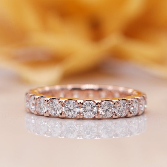14k Gold 2.0 CT Diamond Eternity Wedding Band/Diamond Ring/Perfect Matching Band for Any Engagement Ring/Full Eternity Band/Promise Ring