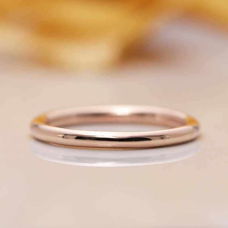 14k Gold 1.8mm Band/Simple Band/Stacking Ring/Promise image 0