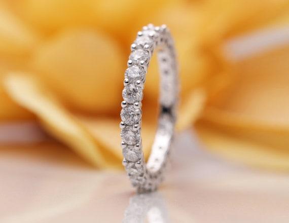 14k Gold Diamond Eternity Wedding Band/Diamond Ring/Perfect Matching Band for Any Engagement Ring/Full Eternity Band/Promise Diamond Ring