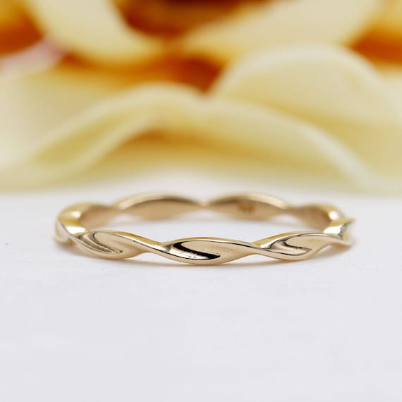 everyday jewelry. Braided gold ring gift for her unique ring gold ring gift idea trendy jewelry