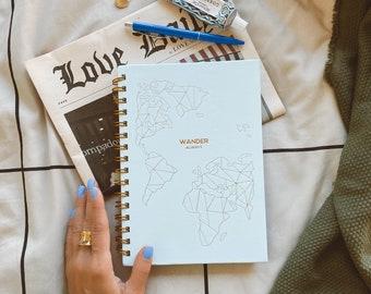 Travel Journal & Planner 'Wander Always' - Travel Gift For Women