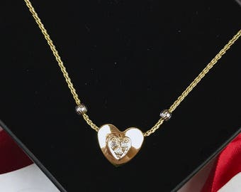 """The """"Adeline"""": 14K Gold Heart Pendant Necklace"""