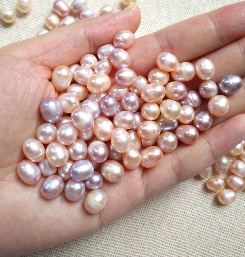 Round Freshwater Pink AA Pearl Cabochon Gemstone Loose Jewelry Making Supply