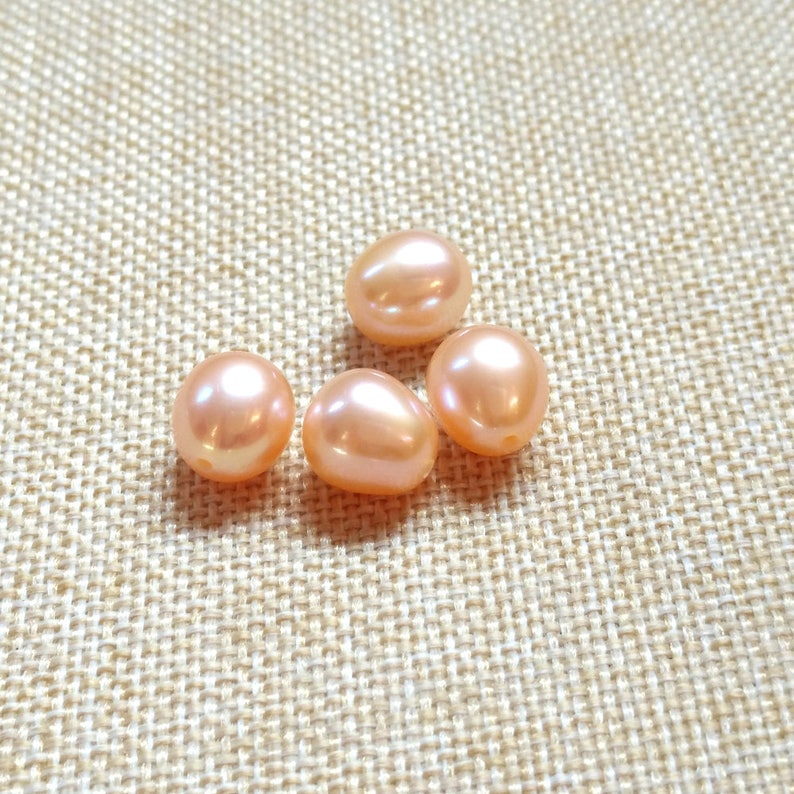 "8-9mm oval High Grade Genuine Freshwater Pink Pearl Single Strand Necklack 36/"""