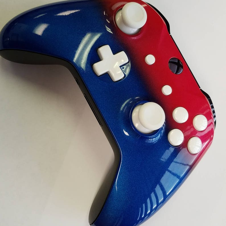 f237aac8e Xbox One S Custom Painted Controller-Red White and Blue