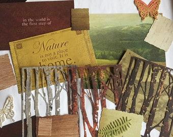 Ephemera muse pack - nature theme - for art journal, travel journal, junk journal, planner, mixed media, collage, scrapbook