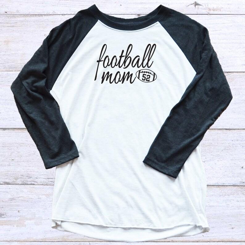 13f643f7c6da Football Mom Personalized 3 4 Length Sleeve Football Shirt