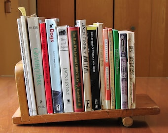 Vintage Wooden Book Rack