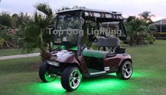 4pc Led Green Golf Cart Kart Neon Under Body Underglow Light 12v Custom Waterproof