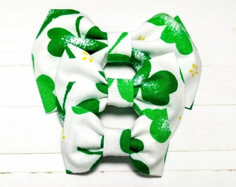 St Pattys Day Hair Bow for Girls, St Patty Baby Hair Bow, Large Hair Bows for Toddlers, Baby Girls Large Bows, Toddler Large Bow Set