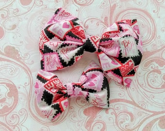 Hair Bows, Big Bow Headband, Toddler Hair Bows, Gift for Her, Baby Shower Gift, Hair Clips for Girls, Fabric Bows, Hair Bows for Babies