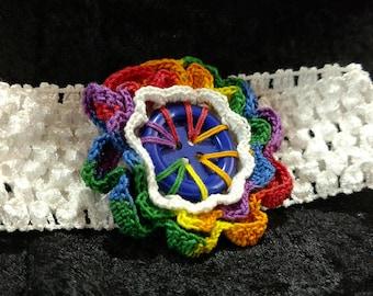Crocheted Flower on Hairband