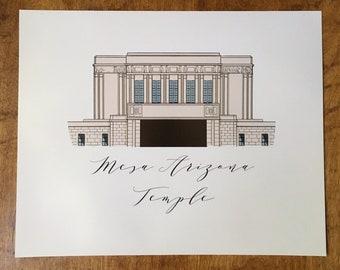 Mesa Arizona LDS Temple Graphic Art Print