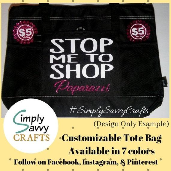 Paparazzi Tote Bag Stop Me To Shop Tote Bag Jewelry  ece5b5af0e27b