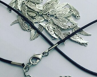 Angel Wings charm necklaces