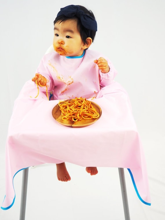 Outstanding Pink Yuribib Baby Sleeved Bib Highchair Cover For Mess Free Meals Ocoug Best Dining Table And Chair Ideas Images Ocougorg
