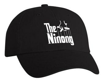 The Ninong - Black Unstructured Dad Hat - Multi-Color Vinyl Design Options 38d33cec1c93