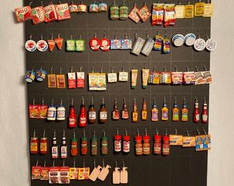 Mini brand earringsmini brandmini brands jewelryminiature food jewelryminiature food earrings