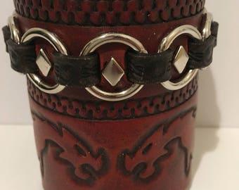 Leather Bracelet - Celtic - Wide Cuff