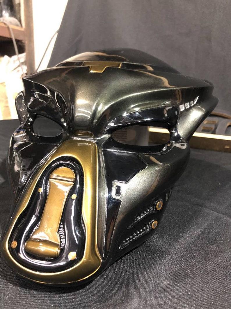 Fugitive Predator mask from movie Predator 2018 cosplay 3d printed helmet