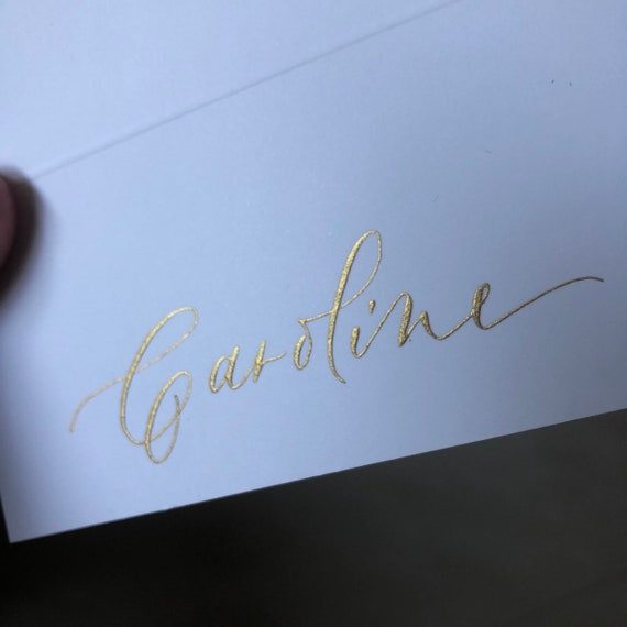 Calligraphy Place Cards Classic Wedding Reception Etsy