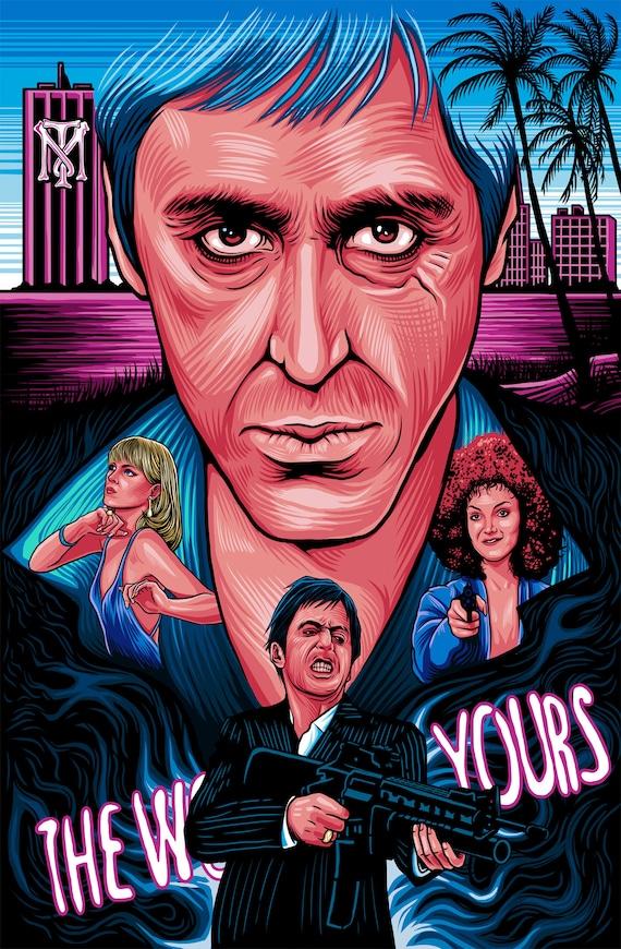 Scarface Al Pacino Tony Montana ScarFace Art Scented | Etsy
