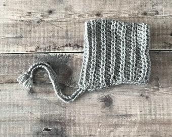 Crochet pixie hat – handmade baby bonnet - Crocheted Children's Hat - winter hat - baby shower gift