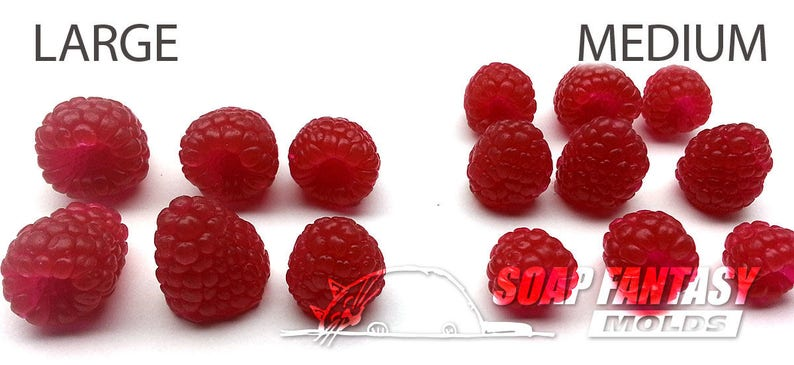 Raspberries silicone soap mold Maked from high quality silicone for soap making