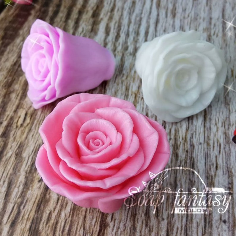 Half opened rosebud Freedom silicone soap mold for soap making Maked from high quality silicone