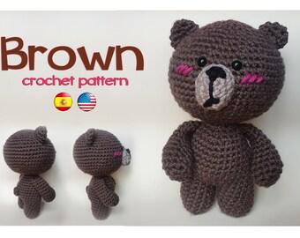 Brown patrón de crochet/ Brown crochet pattern
