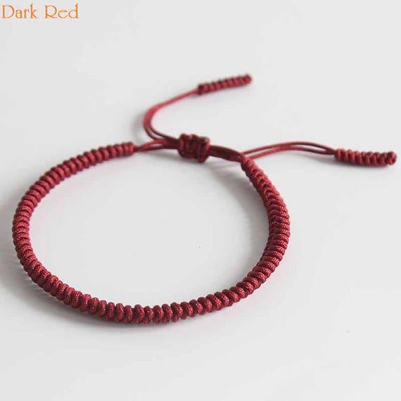 1a722a6c799d1 Original Multi Color Tibetan Buddhism Handmade Knot Lucky Rope Bracelet  Dark Bangle RB001