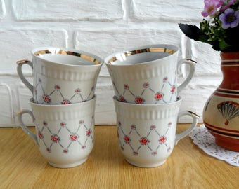 Vintage Soviet coffee tea cup White cup Russian design cups Soviet porcelain cup Kitchen design USSR Vintage soviet cups Russian porcelain
