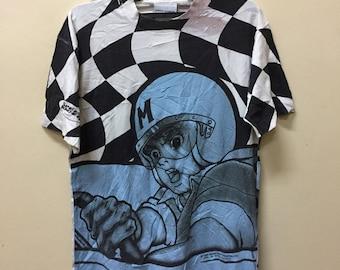 5084ab94 Vintage Speed Racer FullPrint t shirt Akira Astroboy Cartoon Japanese  Animation Anime Movie Unisex Size oasis