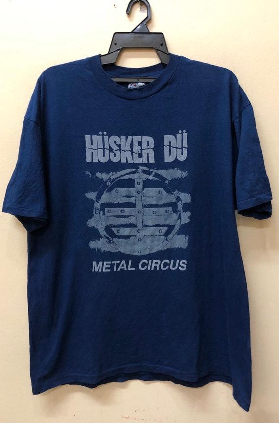 Vintage Husker Du Metal Circus promo tour tshirt m