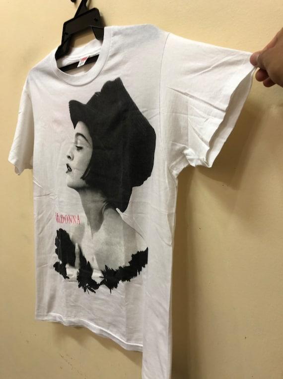 Vintage 90s Madonna Blond Ambition Bandtee Shirt … - image 5