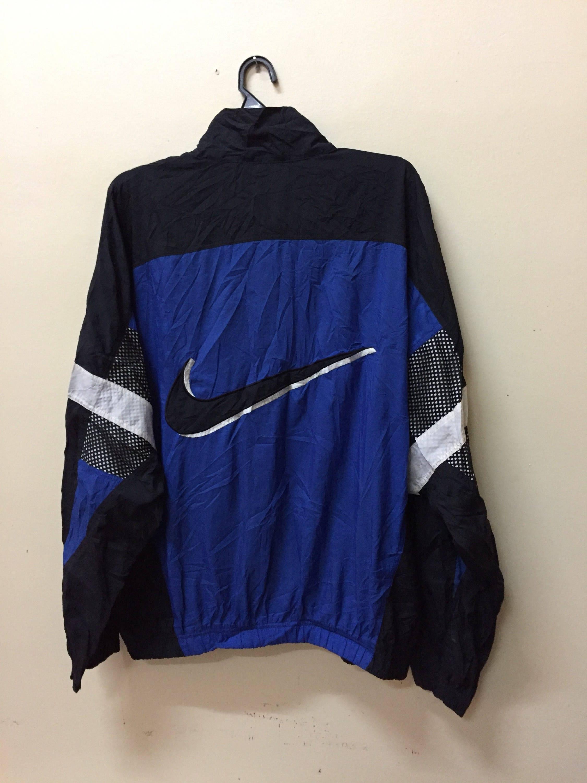 053404793def Vintage 90s Nike Windbreaker Embroidered Big Logo Multicolor