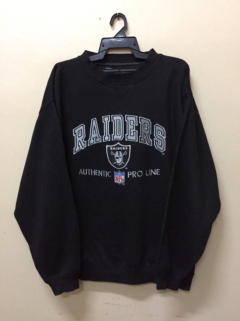 online retailer 017c4 102f7 Vintage Raiders NFL Pro Line Embroidered Big Logo Sweatshirt Unisex Size  Multicolor Adidas Kappa Nike Fila