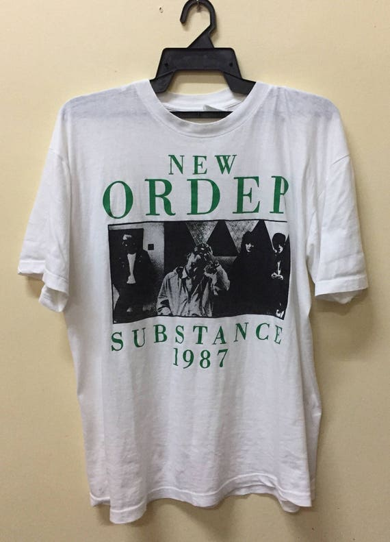 Rare Vintage 80s New Order t Shirt 1987 The Stone