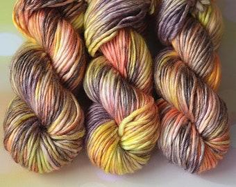 NICE yarn, Hand Dyed yarn, arm knitting yarn, Wool, big yarn, bulky yarn, Chunky Yarn, Giant Yarn, Thick Yarn, Felting Yarn