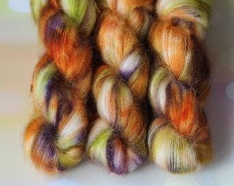 KidSilk yarn, Hand Dyed yarn, knitting, VizEll, super kid mohair, silk, knitting Active, lace yarn, arm knitting yarn