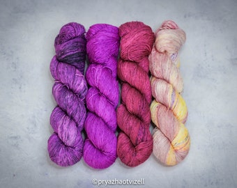 yellow silk sock yarn 5050 SW MerinoSilk merino silk Vanilla silk yarn fingering weight yarn cream yarn wool yarn Fingering Yarn