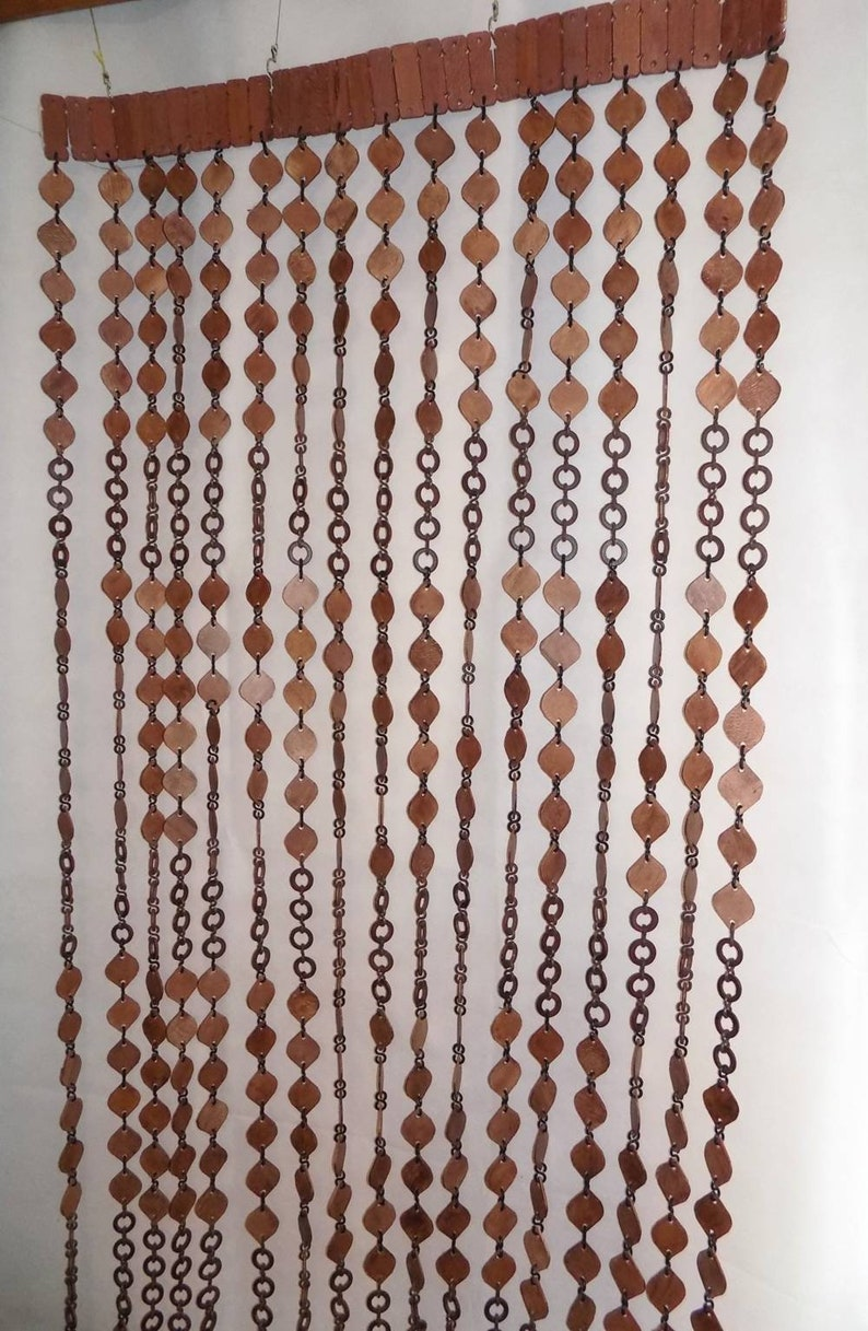 Wooden beaded doorway curtain hand made new