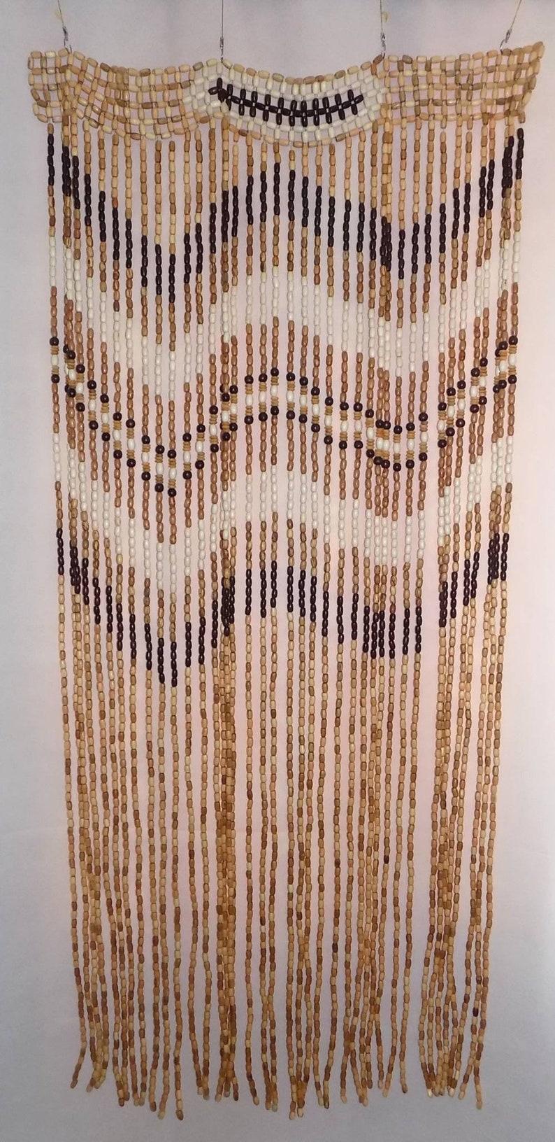 Awesome Wooden beaded curtain door doorway room divider new