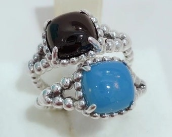 4460be78f Vibrant Spirit Ring, 100% 925 Sterling Silver & Scuba Blue Crystal Or Black  Crystal, Fits to all Pandora Summer Collection Jewelry Diy,