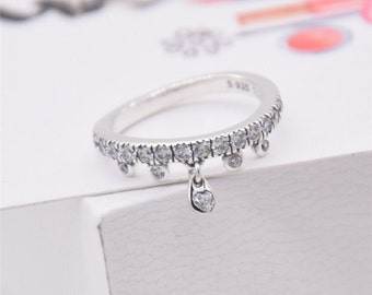 f1464f4d8 ... reduced chandelier droplets ring 100 925 sterling silver clear cubic  zirconia ring fits to all pandora