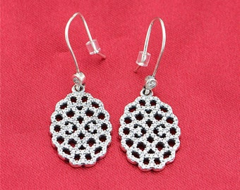 f8bb08208 Shimmering Lace Drop Earrings, 100% 925 Sterling Silver & CZ, Fits to all  Pandora Jewelry Diy,