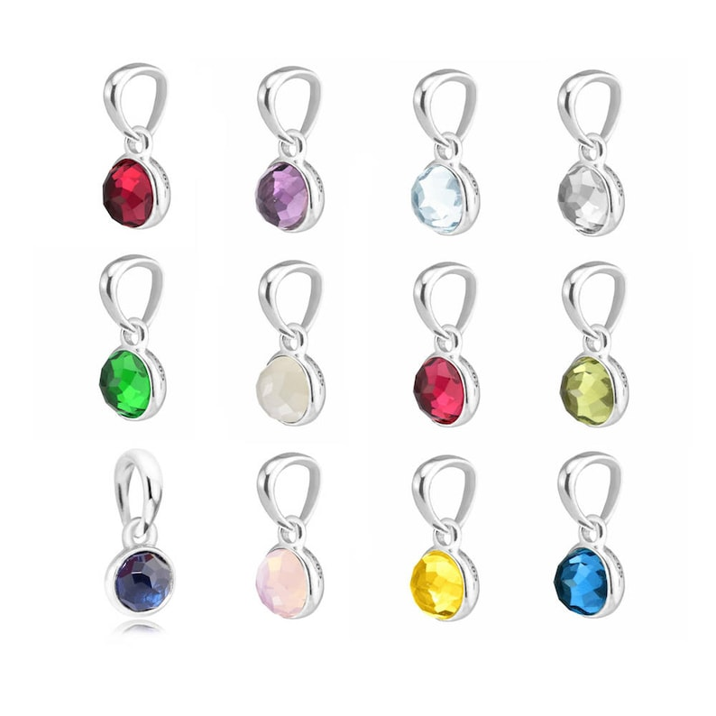 f22637225 Birthstone Collection Droplet Charm 925 Sterling Silver &   Etsy
