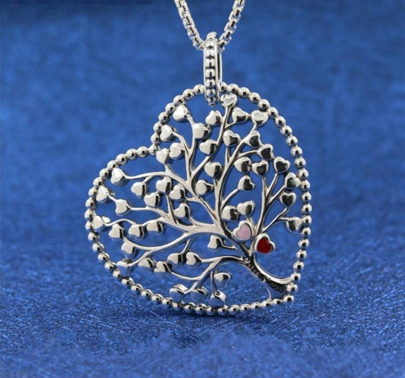 668a2a368 Valentine's Day Tree Of Love Heart Pendant Including   Etsy